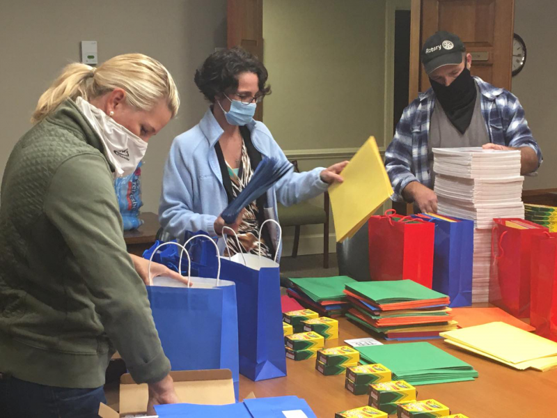 Packing School Supplies for Teachers returning to in person learning